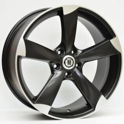 19X8.5 AG ROTOR SATIN BLACK MACHINED WHEEL PACKAGE