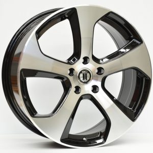 18X7.5 AG GT-I GLOSS BLACK MACHINED WHEEL