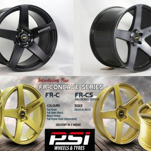 SIMMONS FR CONCAVE WHEELS RIMS x4 FORD HOLDEN BMW NISSAN
