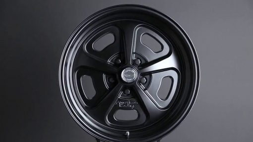 15X7 15X8 17X9 HERITAGE VN501 WHEELS 1-PIECE RIMS SATIN BLACK