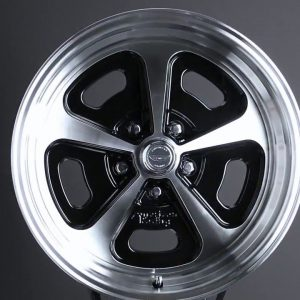 15X7 15X8 HERITAGE VN501 WHEELS 1-PIECE RIMS GLOSS BLACK MACHINED
