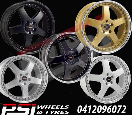 20X8 5 GENUINE SIMMONS FR CONCAVE WHEELS & TYRES RIMS x4 FORD HOLDEN