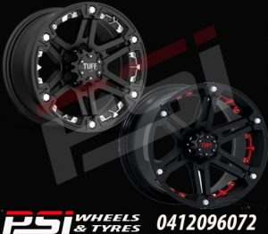 20X9	TUFF T01 WHEELS X4 RIMS ALLOYS 4X4 COLORADO RANGER DMAX BT-50 HILUX