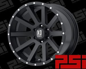 18X9	KMC HEIST XD818 WHEELS X4 RIMS ALLOYS 4X4 JEEP WRANGLER TJ JK YJ