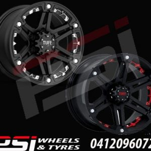 16X8	TUFF T01 WHEELS X4 RIMS ALLOYS COLORADO RANGER DMAX BT-50 HILUX JEEP