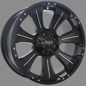 16X8 6X139.7	TUFF T06 WHEELS X4 RIM ALLOYS 4X4 COLORADO RANGER BT50 HILUX DMAX JEEP