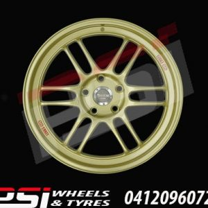 19X8.5	ENKEI RPF1 GOLD WHEELS RIMS BMW COMMODORE CIVIC VXR