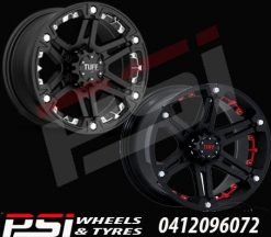 17X8	TUFF T01 WHEELS X4 RIMS ALLOYS COLORADO RANGER DMAX BT-50 HILUX JEEP