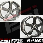 19X8.5	AG AUDI OR VW GOLF STYLE ROTOR WHEELS BLACK OR GREY A5 A4 S4 S5 GTI R