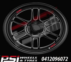 16X7	ENKEI RPF1 WHEELS 4x100 BLACK LIGHT WEIGHT JDM STYLE RIMS ALLOYS