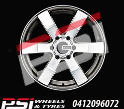 18X8	ADVANTI TYPHOON BLACK WHEELS COLORADO RANGER BT50 DMAX HILUX